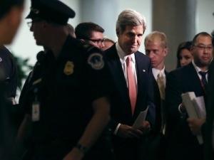 John Kerry Briefs Senators On Capitol Hill On Syria