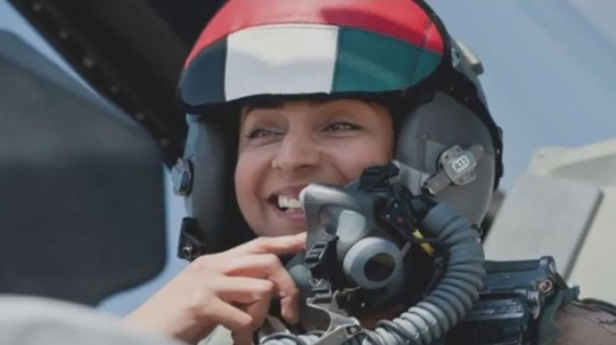 female Arab pilot